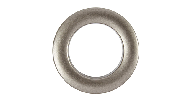 Aura 36mm Eyelet Curtain Rings Satin Steel single