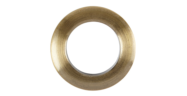 Aura 36mm Eyelet Curtain Rings Burnished Brass single