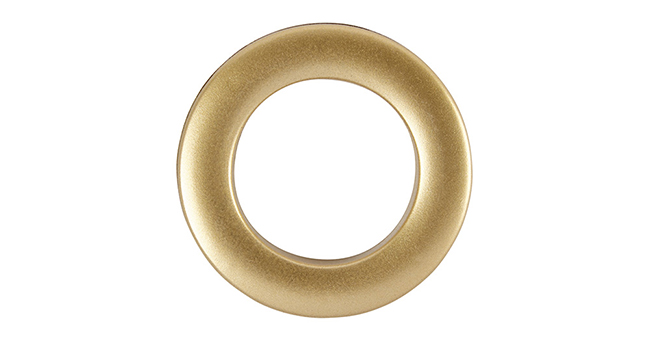 Aura 36mm Eyelet Curtain Rings Satin Gold single
