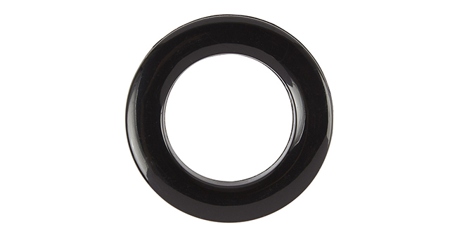 Aura 36mm Eyelet Curtain Rings Black single