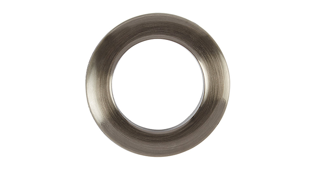 Aura 36mm Eyelet Curtain Rings Brushed Steel single