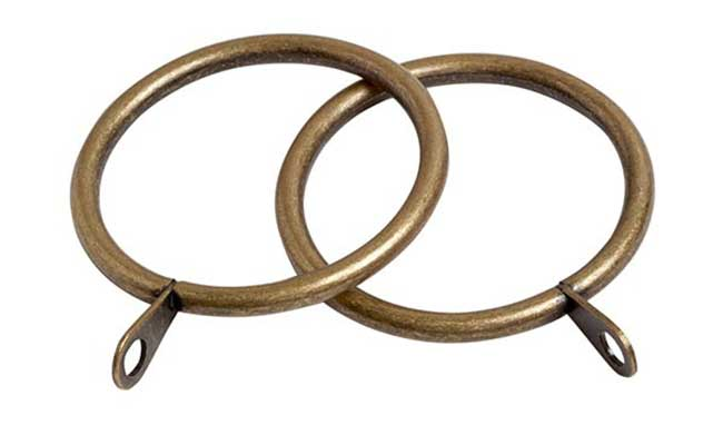 Speedy Victory Rings Pack of 6 Antique Brass for 28mm pole